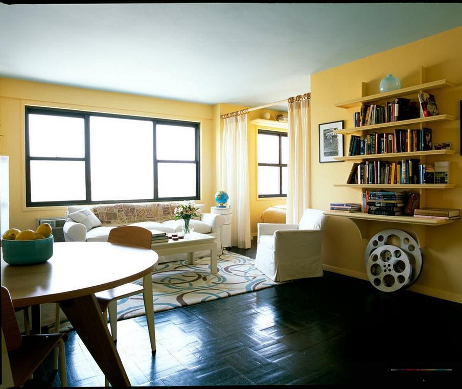 При правильно подобранной цветовой гамме, ваша однокомнатная квартира визуально <strong>дизайн фото интерьера однокомнатной квартиры</strong> станет больше