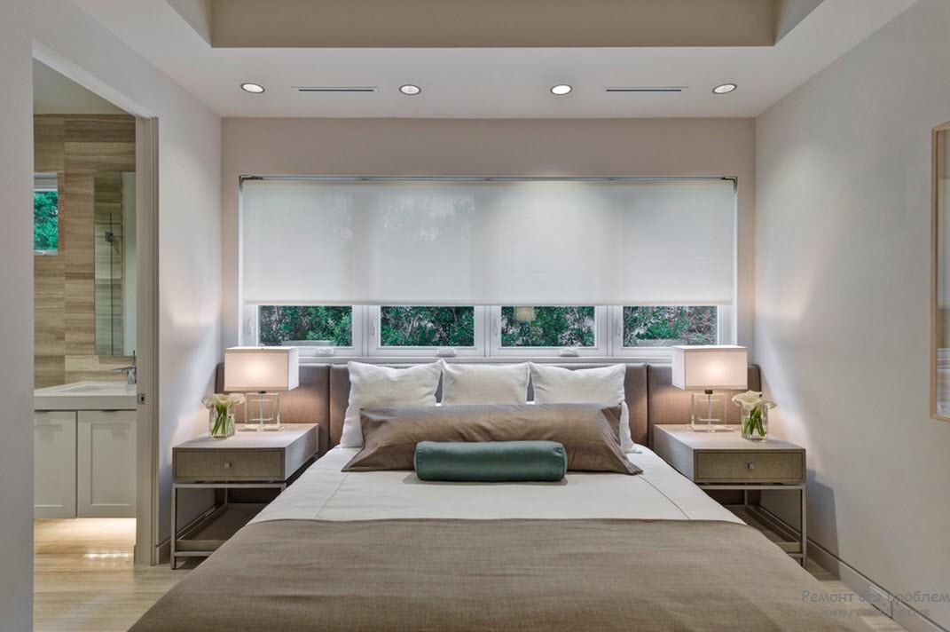 Мебель - стильное дополнение бежевого интерьера спальни
