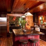 Оформление кухни в деревенсокм стиле