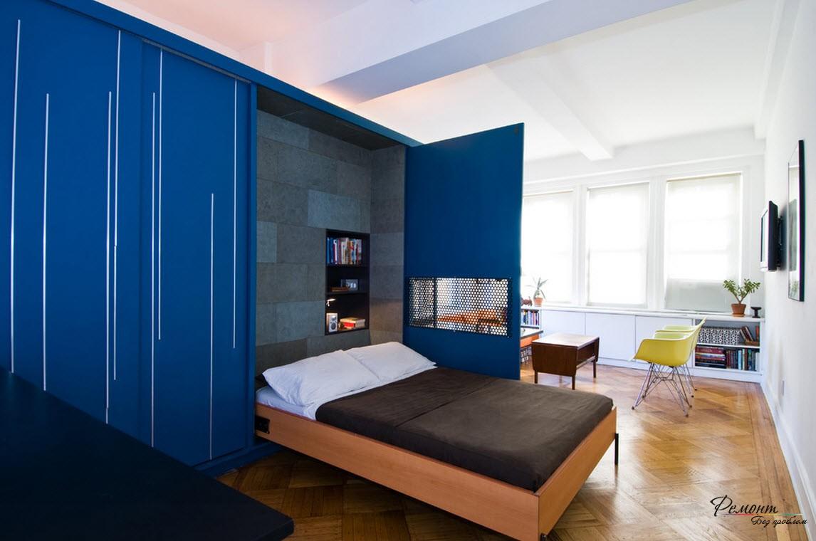 Отличным дизайнерским решением будет использование складной мебели