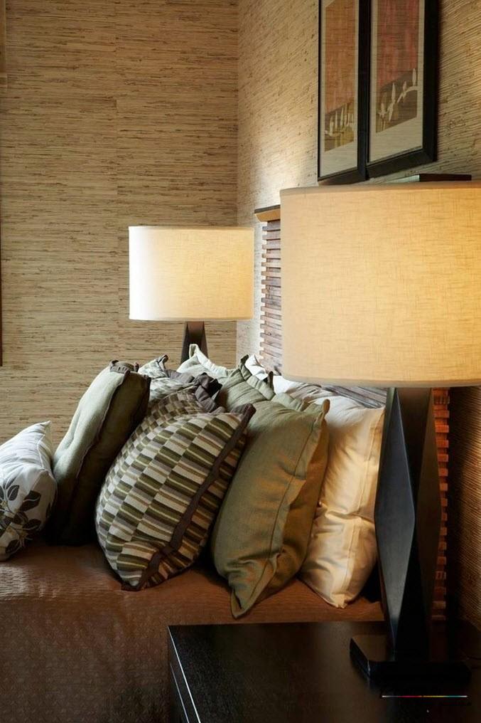 Бамбуковые обои в интерьере: красивая отделка стен бамбуком на фото