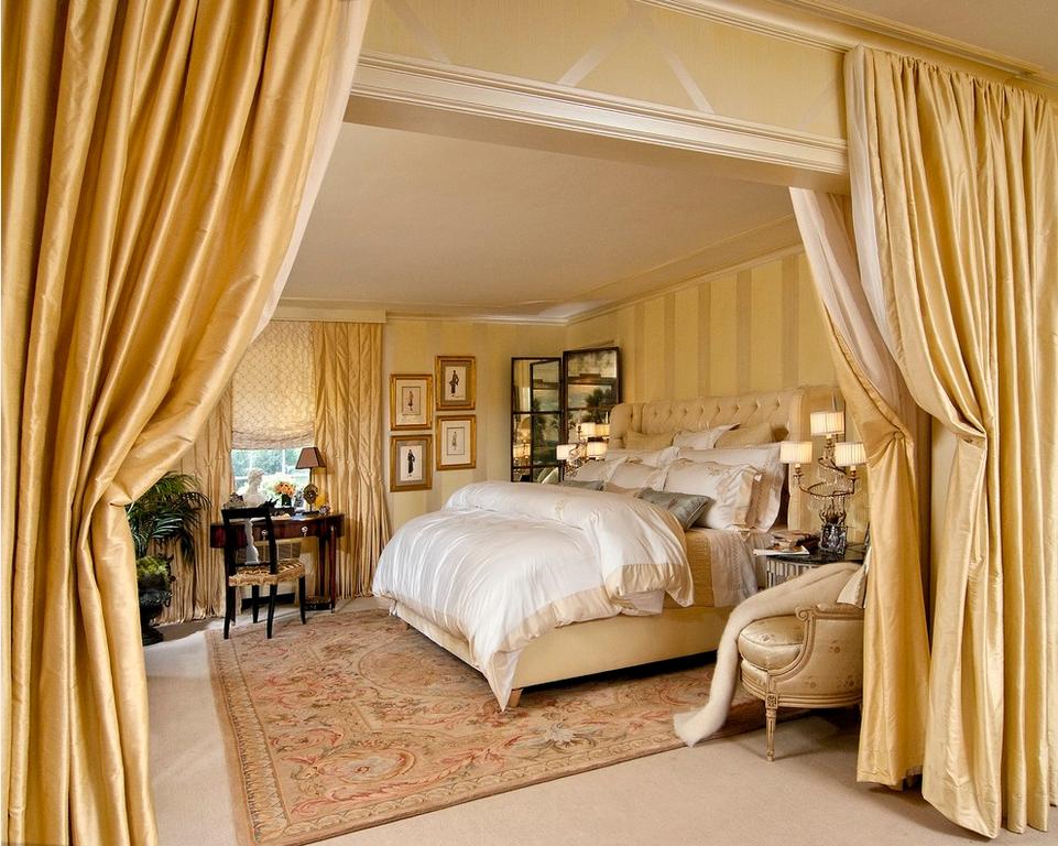 Шторы - функциональный и декоративный элемент в спальне