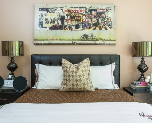 Прямоугольное панно над кроватью