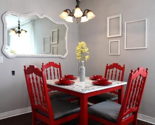 Правила сочетания красного цвета в дизайне интерьера на фото