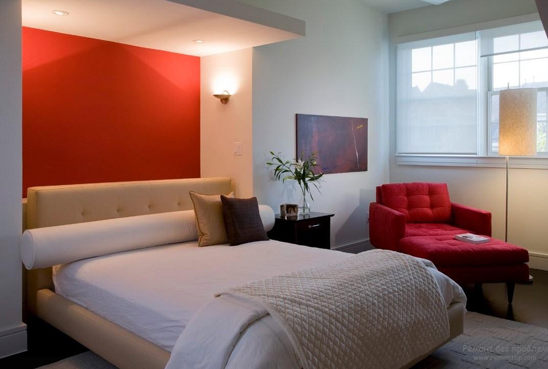 Освещение красной спальни