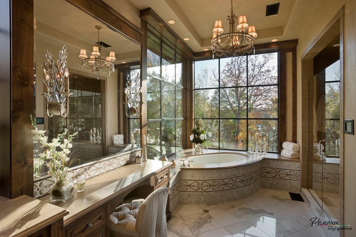Угловая ванна может сделать помещение оригинальным и подходит под любой стиль