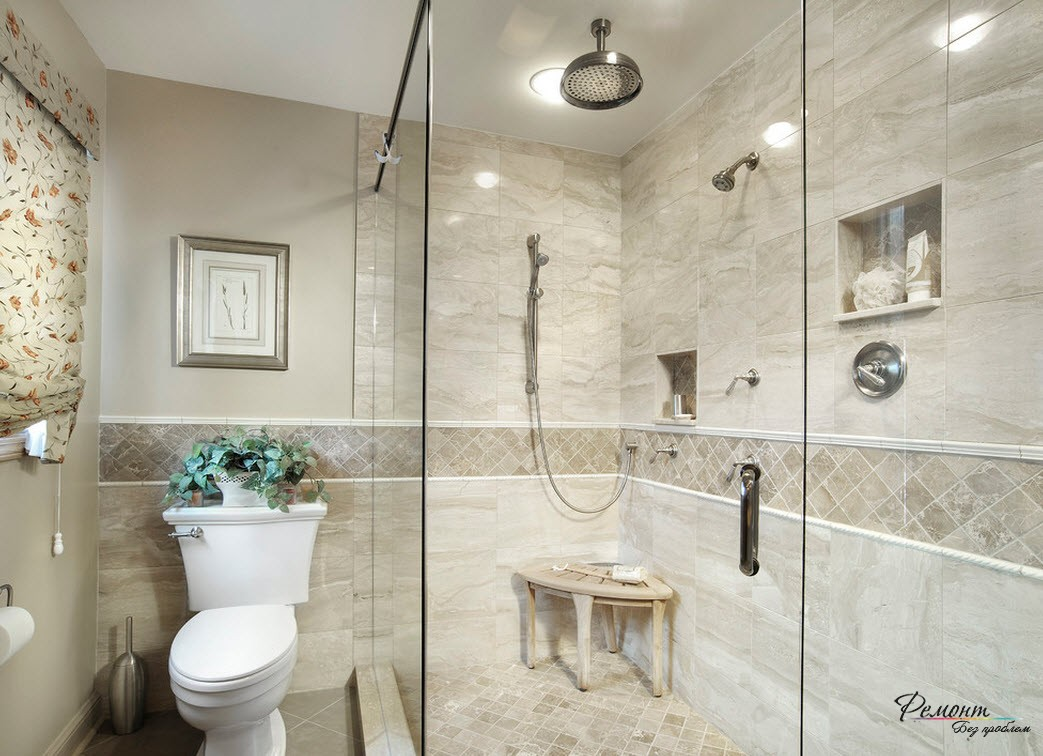 Ванная комната с плиткой Алианте