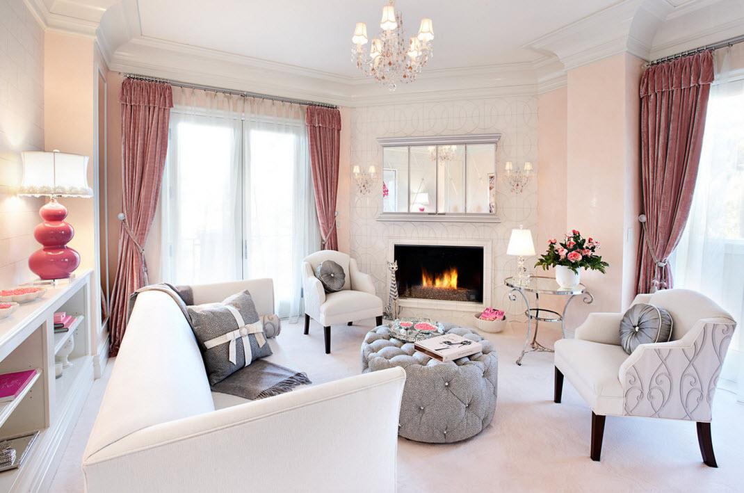 Бледно-розовый со светло-серым - необыкновенно элегантно