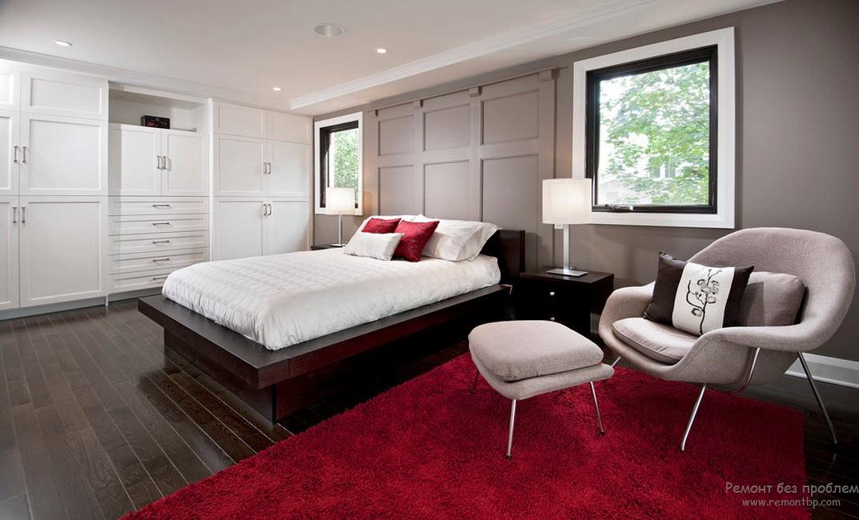 Дизайн красной спальни