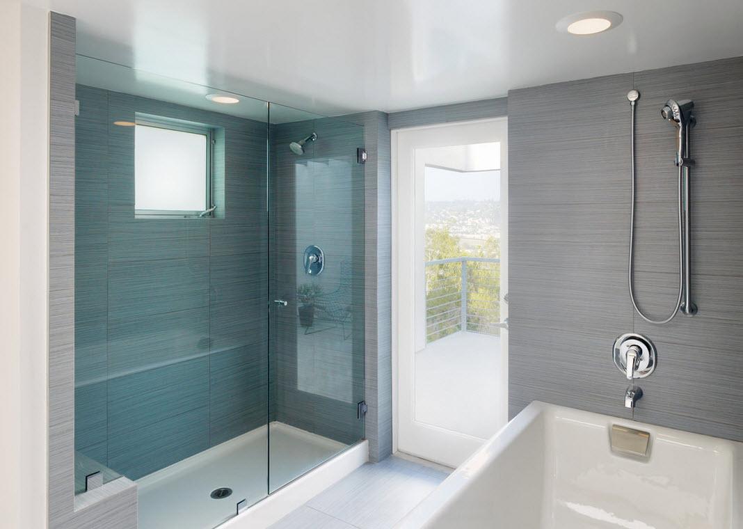 Голубой в оформлении ванной