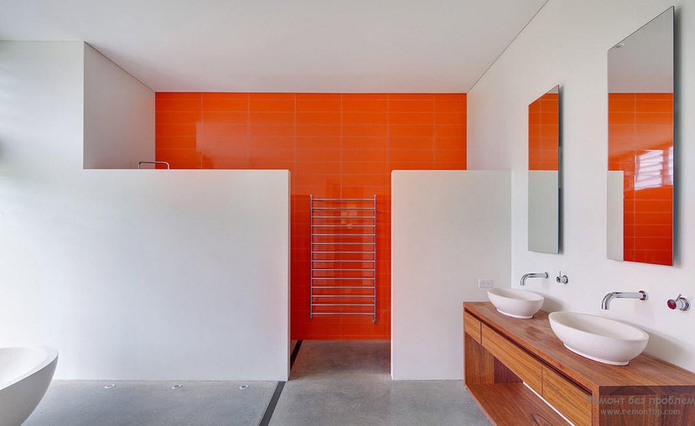 Бело -оранжевая гамма