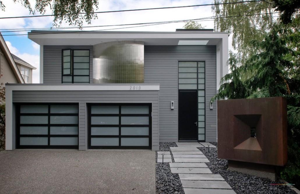 Современный дизайн крыльца дома