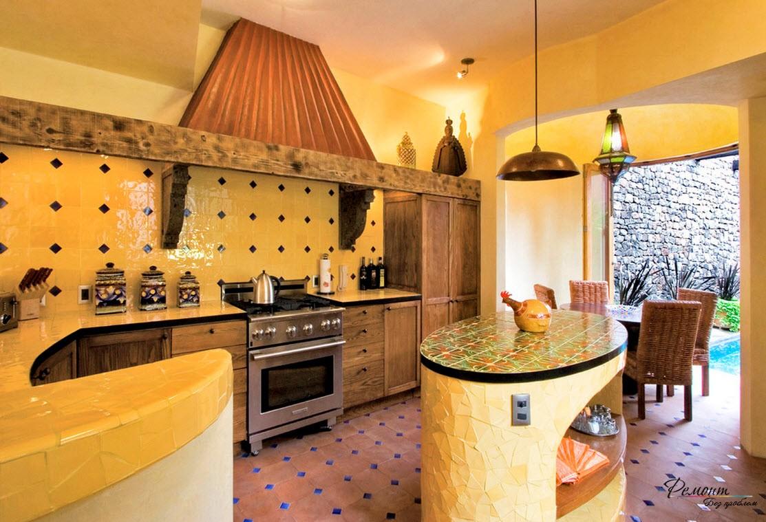 Дизайн плитки пола кухни
