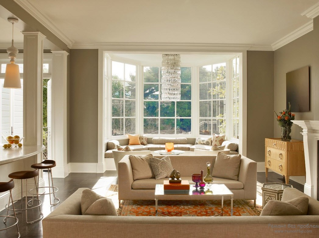 for Living room bay window ideas
