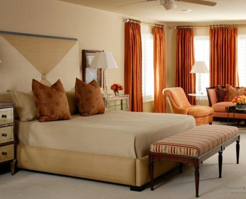 Спальня, где доминирует пастельная палитра