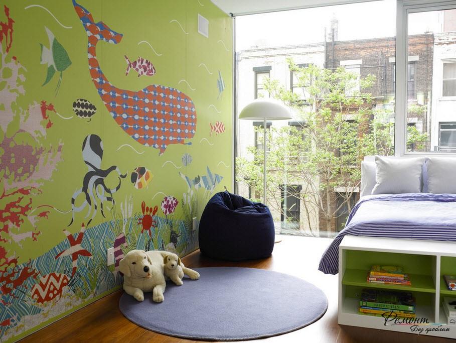 Для детской комнаты веселые обои с рисунком как нельзя лучше подходят