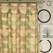 Изящный узор на шелковой шторе
