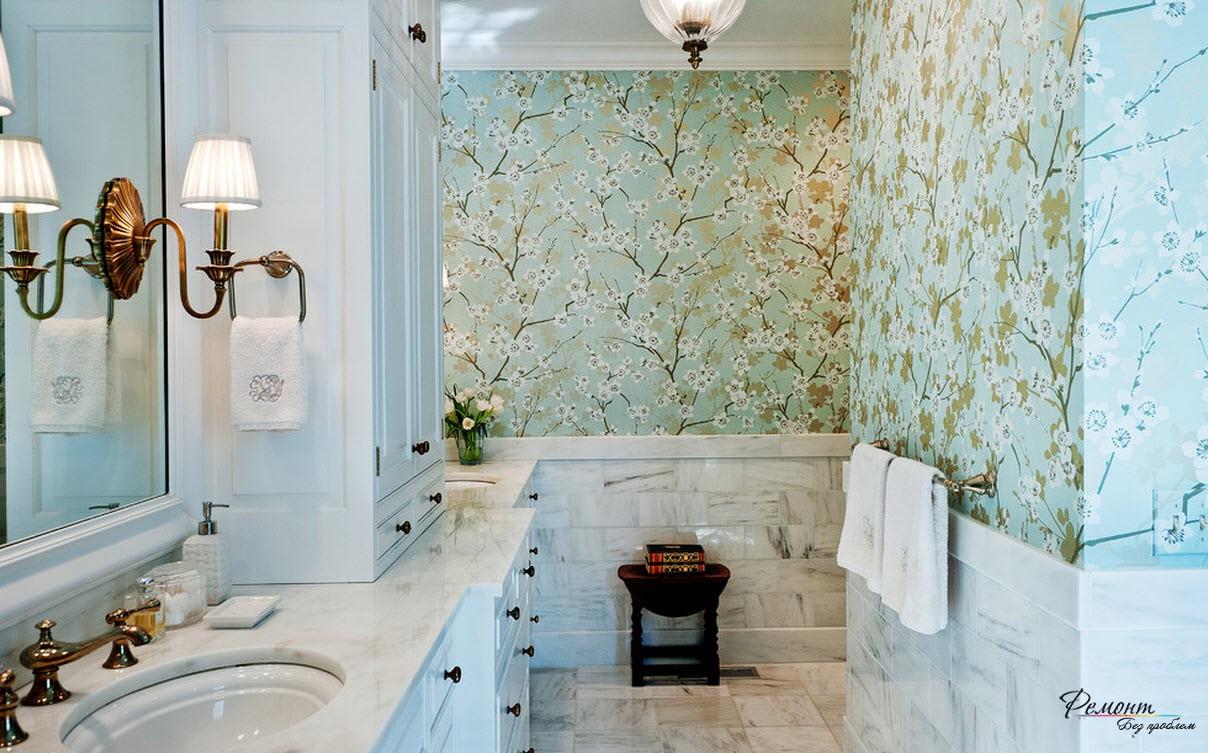 Ванная комната с плиткой Acuarela