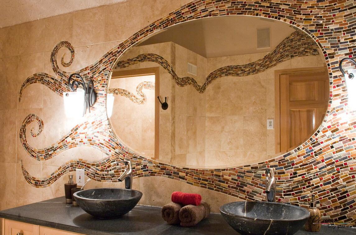 Рисунок мозаикой на стене