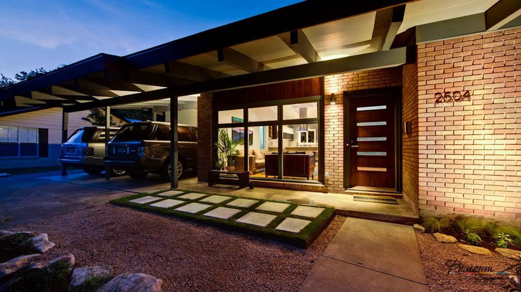 Дизайн крыльца дома