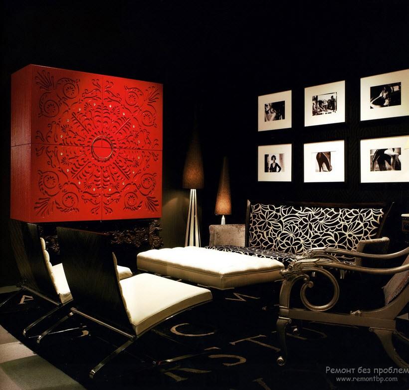 Любители готики выбирают красно-черные интерьеры