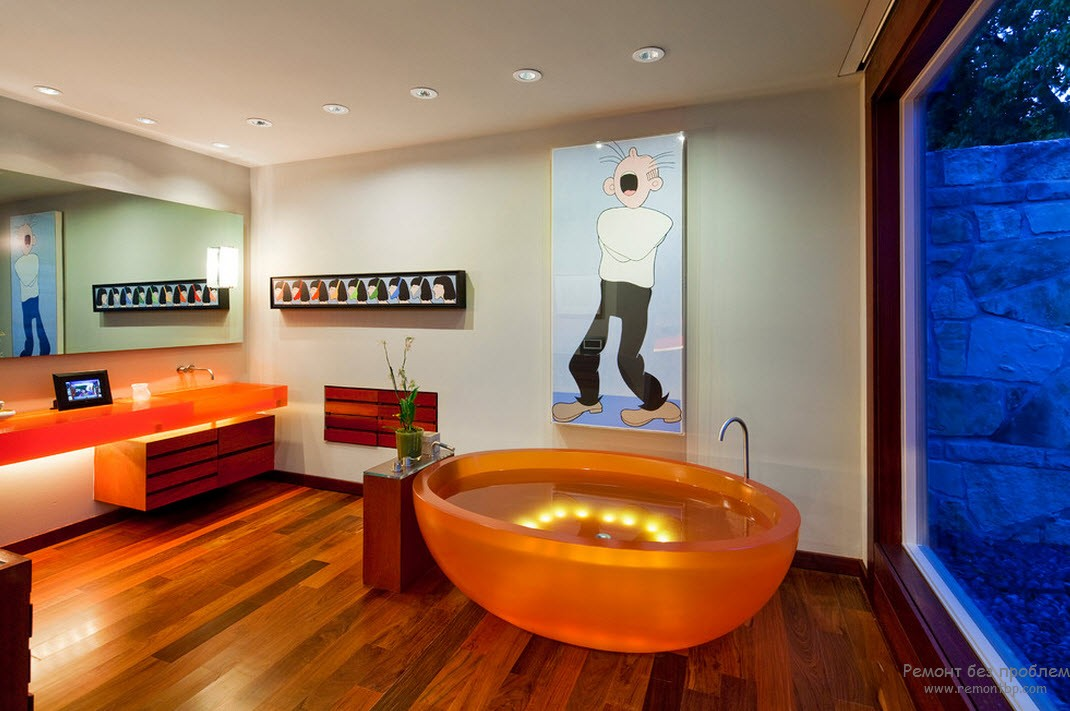 25 лучших идей по оформлению дизайна ванной комнаты в оранжевом цвете с фото