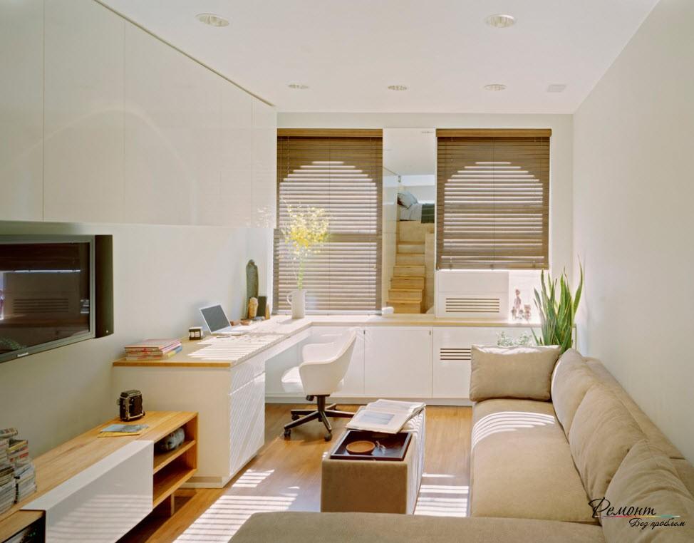Помимо размеров и расстановки, важную роль играет цвет мебели
