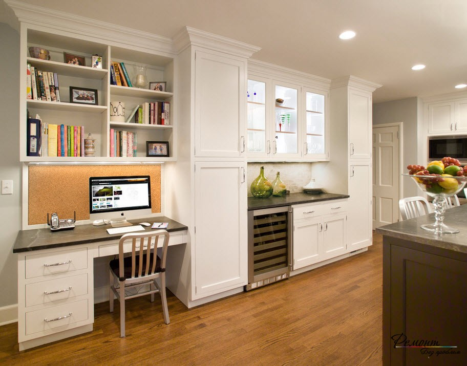 Дизайн рабочего места на кухне