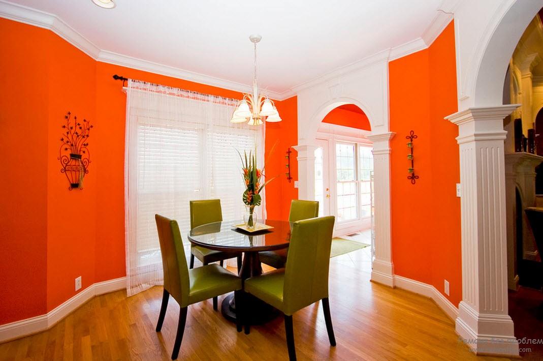 Оранжево-зеленая обстановка