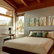 Спальня с модульным полотном