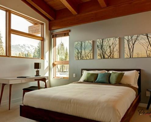 Модули с растительным сюжетом в спальне