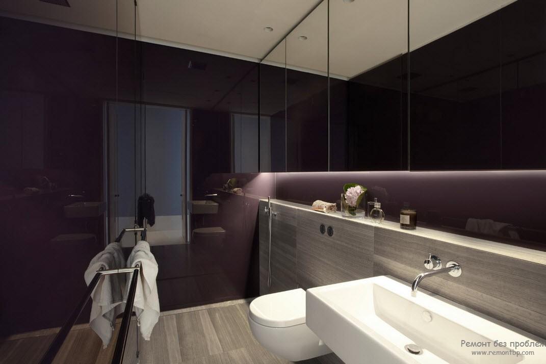 Dark purple bathroom