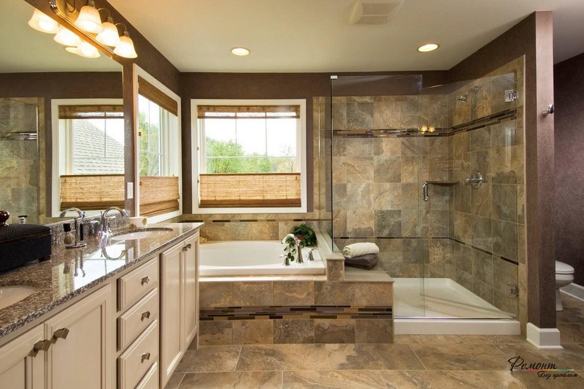 Упрощенная отделка ванной