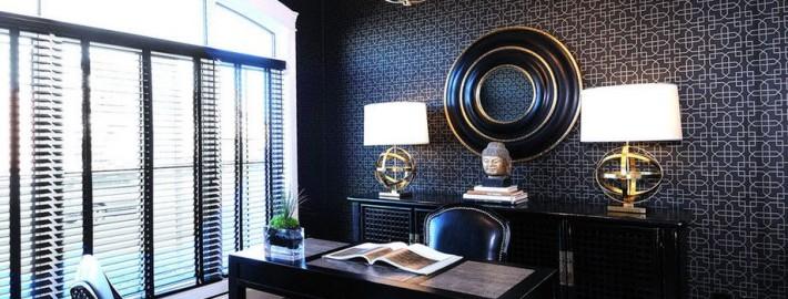 Сочетание темных оттенков в интерьере: пол и стены