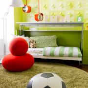 Зеленый в современном дизайне детской комнаты