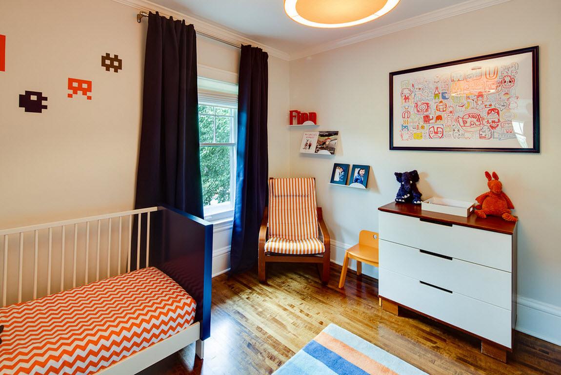 Немного оранжевого для комнаты ребенка