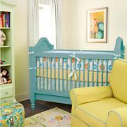 Мебель в желто-голубой палитре