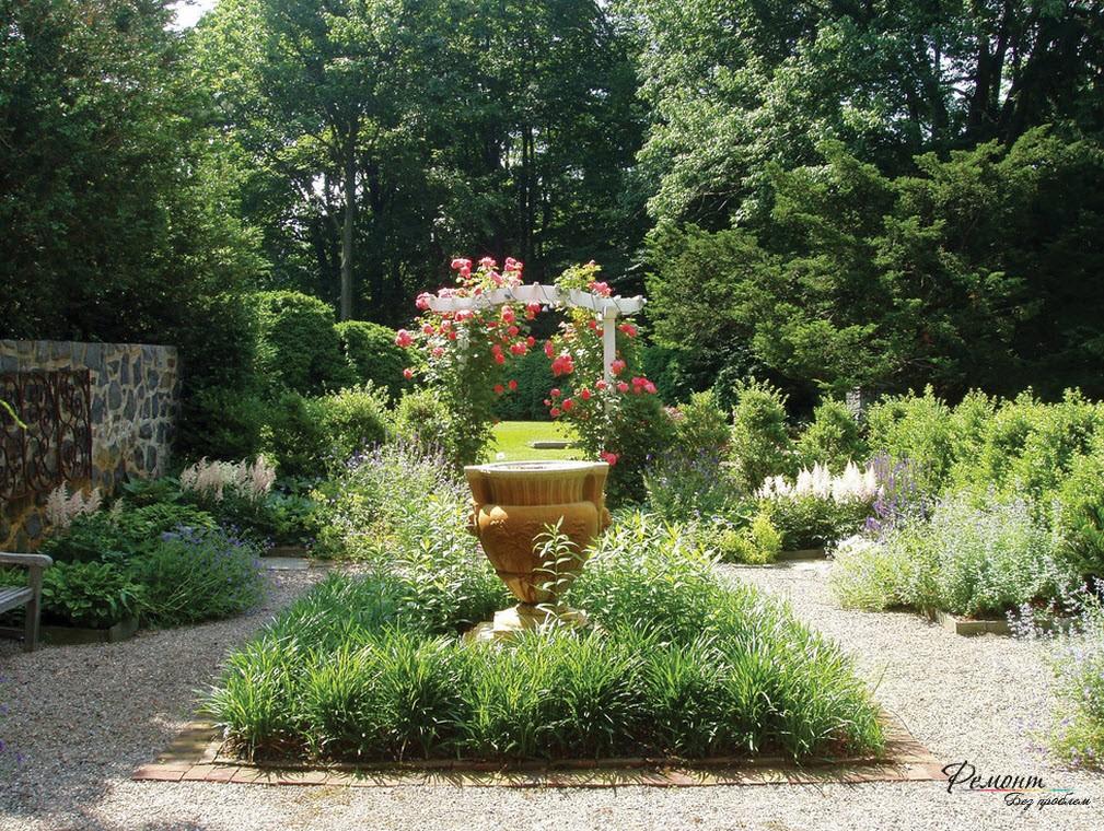 Оформление сада и клумбы