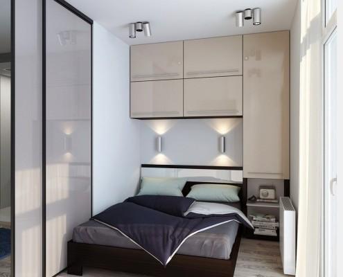 Лучшие двери для маленькой спальни - раздвижные