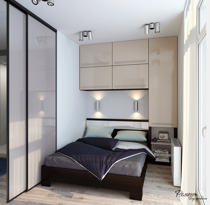 Дизайн маленькой спальни фото 2016