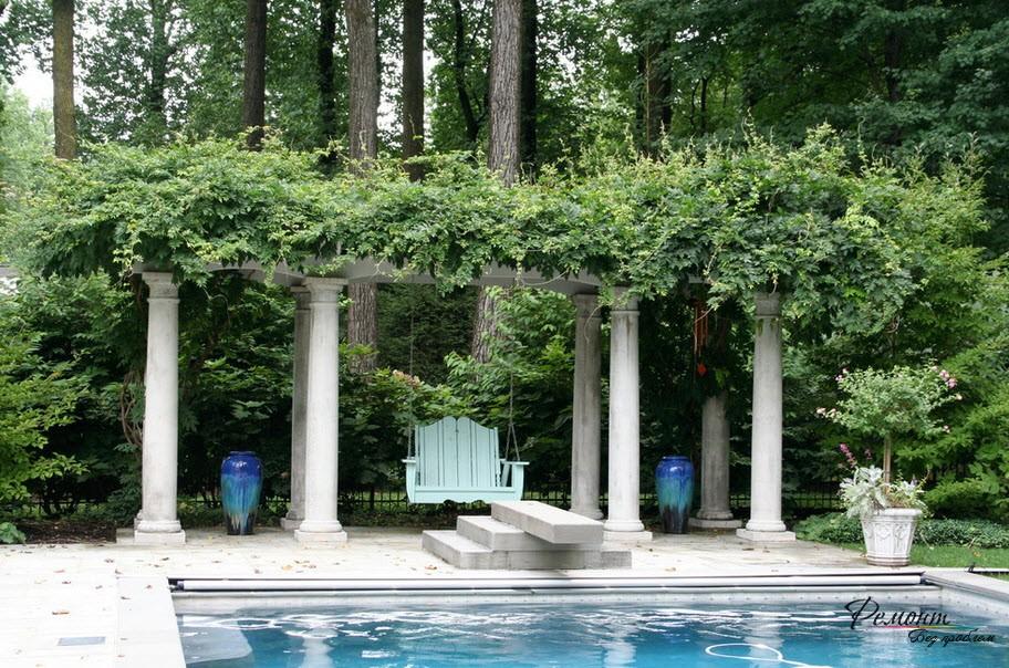 Дизайн садовой беседки: дизайнерские идеи стильного оформления на фото