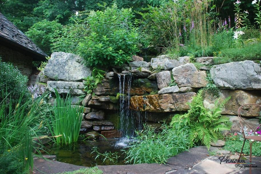 Водопады во дворе