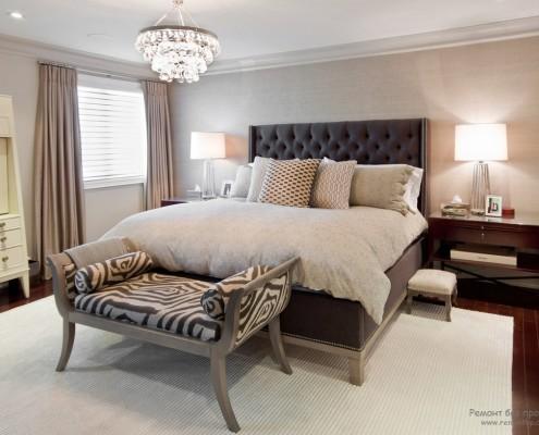 Светлые стены - лучшее решение для серой спальни