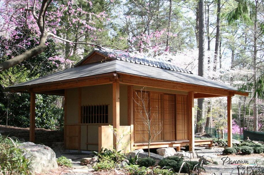 Дома в японском стиле: экстерьер и дизайн участка, сада и двора на фото