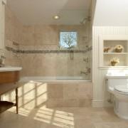 Песочный цвет в оформлении ванной