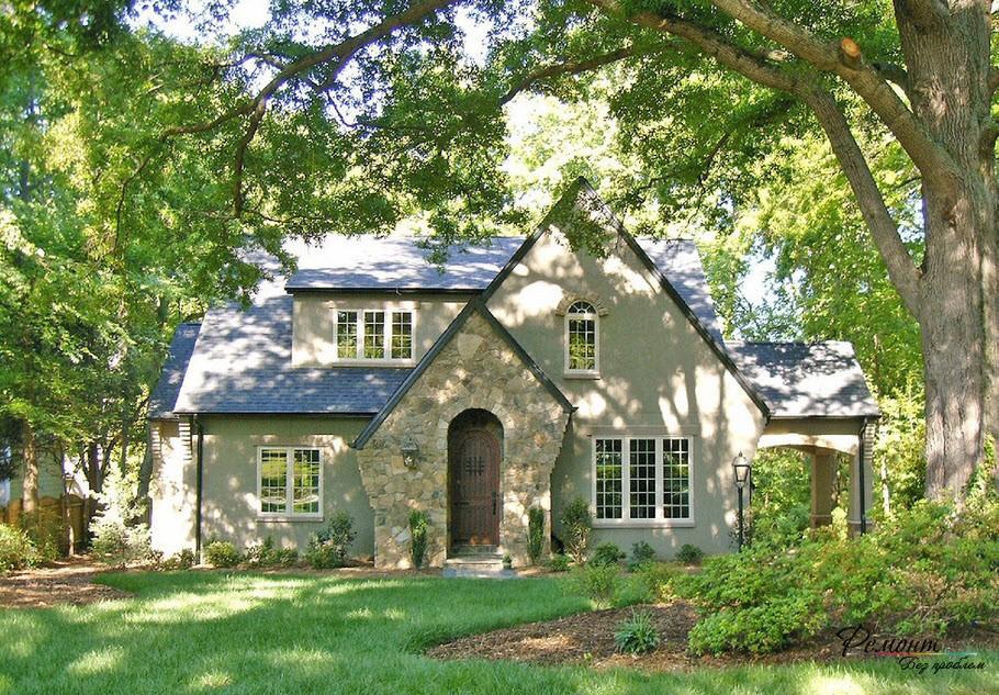 Стильный фасад загородного дома: 16 фото