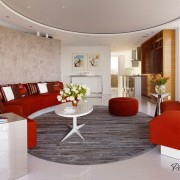 Круглая гостиная: креативные комнаты для гостей на фото
