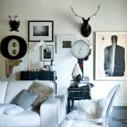 Сочетание разных декоративных элементов в интерьере