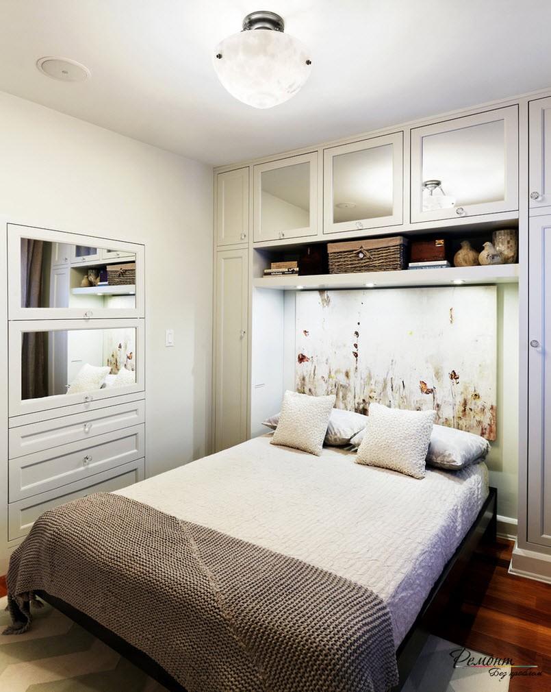 Дизайн маленькой спальни на