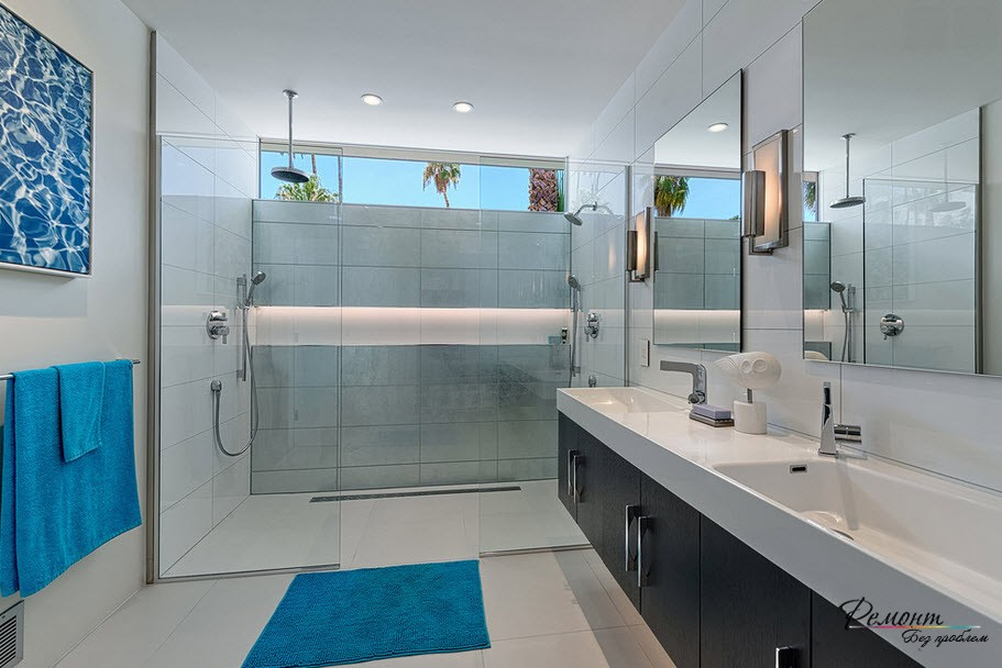 Ванная в стиле минимализма